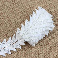 2 yardas blanco elegante del cordón del bordado bordado de Applique ornamento costura diseña S1091 en Encajes de Hogar y Jardín en AliExpress.com | Alibaba Group