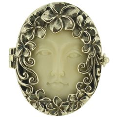 Art Nouveau Goddess Face and Sterling Silver by SophieFancyShop, Ft16500.00