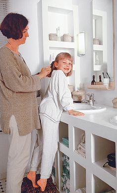 Waschtisch aus Porenbeton