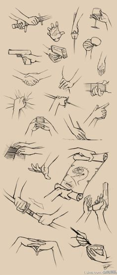 Drawing hands in action