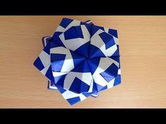 折り紙 くす玉 薗部式 裏出し30ユニット 2 折り方 Origami Kusudama sonobe inside out 30units - YouTube