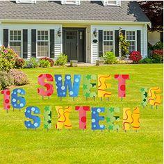 sweet sixteen yard decoration sweet sixteen letters law https