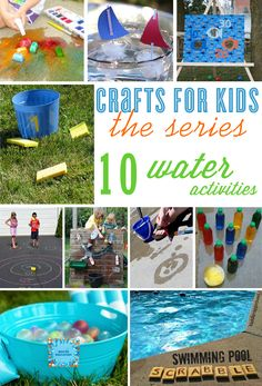 10 Water Play Crafts For Kids (the series) | curated by thecelebrationshoppe.com
