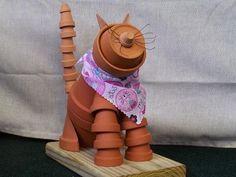 DIY Clay Pot Pet Cat