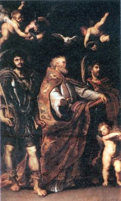 St. George with St. Maurus and Papianus by @artistrubens #baroque