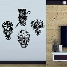 Wall Decal Art Decor Decals Sticker Sugar Skull Music Dancing Scandal Four Circus (M172) DecorWallDecals http://www.amazon.com/dp/B00FVTBOLY/ref=cm_sw_r_pi_dp_aJ-Xub0HNEM8G