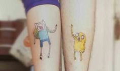 Finn and Jake best friend tattoos