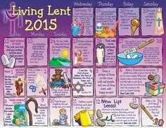 2015 Children's Lenten Activity Calendar Catholic Lent, Lenten Season, Catechist, Ash Wednesday, God Prayer, Faith Hope Love, Easter Party, Sunday School, Prayers