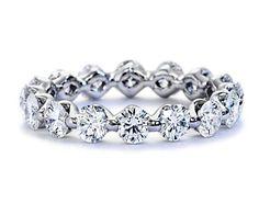 Floating Diamond Eternity Ring in Platinum (over 2 ct. Eternity Ring Diamond, Diamond Bands, Diamond Wedding Bands, Diamond Jewelry, Eternity Bands, Diamond Earrings, Wedding Jewelry, Wedding Rings, Anniversary Rings