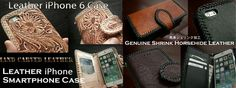 Genuine Leather iPhone 6/6s Plus Flip Case Wallet Cover Carved Custom Handmade