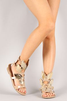 Greek Goddess Sandals. I am a sucker for any winged shoe.  #vegan #shoes