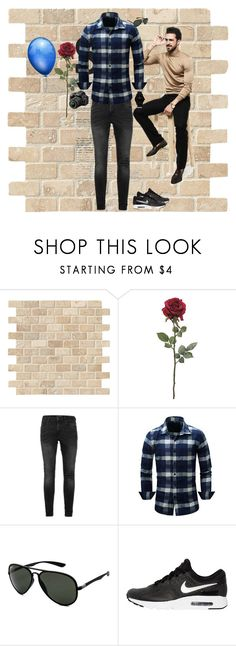 """""""Classic"""" by colicarnel ❤ liked on Polyvore featuring Topman, Ray-Ban, NIKE, Nixon, Nikon, men's fashion and menswear"""
