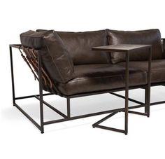Купить Диван - диван, дизайнерский диван, кожа натуральная, металл, лофт мебель, лофт стиль