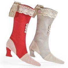 Maileg Christmas boots...like Christmas stocking candy.