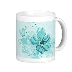 Pretty Turquoise Open Flower Design