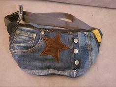 Super Hip Fanny Pack Denim Upcycling jeans de haute qualité | Etsy Fanny Pack, Denim, Jeans, Etsy, Fashion, Bags, Key Pouch, Belt, Top