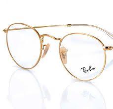 gold metal eyeglasses frame vintage glasses 1980s oval. Black Bedroom Furniture Sets. Home Design Ideas