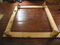 The intent of this bed project was to make a bed frame with basic tools as quickly and cheaply as possible. Secondarily, I wanted to be able to break it down. Diy Furniture Dog Crate, Diy Barbie Furniture, Furniture Legs, Bed Frame And Headboard, Diy Bed Frame, Bed Frames, Diy Platform Bed Plans, Making A Bed Frame, Built In Bed