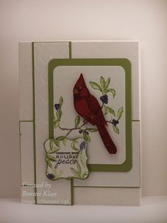 A Cardinal Peace by bon2stamp - Cards and Paper Crafts at Splitcoaststampers