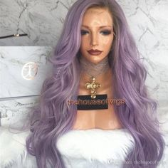 Purple Wig Bleaching Grey Hair Platinum Hair Color For Asian Skin – porjack Short Hair Wigs, Human Hair Wigs, Party Hairstyles, Wig Hairstyles, Hair Color For Asian Skin, Cheap Full Lace Wigs, Colored Wigs, Colored Hair, Platinum Hair Color