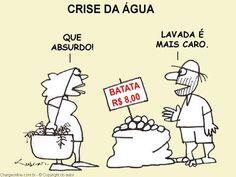 Crise da Água. Batata lavada é mais cara!
