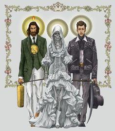 St Jude, Santasami Muerte,Jesus Malverde