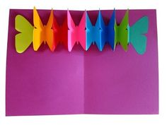 Pop up & fold out butterfly card