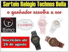 Eu quero ganhar o relógio Technoss Bella que a Juh Sarah está sorteando no Tempo Fashion em parceria com a Ttime Relógios.