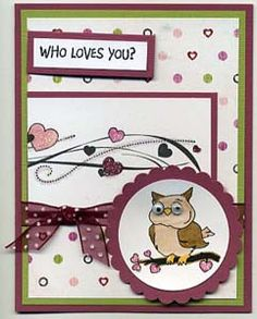 Who Loves You? Card, Stamps, & DIY Directions from GreatImpressionsStamps.com