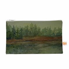 """Cyndi Steen """"Green And Gold Reflections"""" Green Watercolor Everything Bag"""