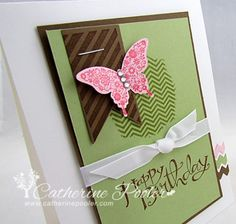Masking Technique Rubber Stamping , Papillion Potpourri Stampin Up Catherine Pooler