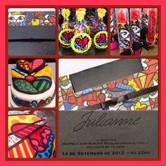 Convite romero brito SantaFesta Convites Muito Especiais  11 3061-2121/atendimento@santafesta.com.br #convite #festa #decoracaodefesta #conviteinfantil #15anos #barmitzvah #batmitzvah #wedding #creative #bride #groom #party #invitation #creative #santafesta