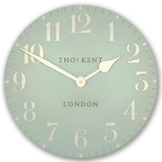 """Thomas Kent 20"""" Grand Arabic Duck Egg Wall #Clock - Candle and Blue Rattan Furniture Set, Cane Furniture, Wicker Chairs, Duck Egg Kitchen, Extra Large Wall Clock, Cane Sofa, Conservatory Furniture, Caravan Makeover, Blue Candles"""