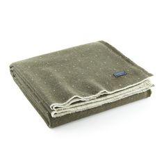 Dot Wool Throw - Olive - Half Hitch Goods