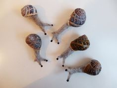 Needle Felted Snail by jayandthesnails on Etsy