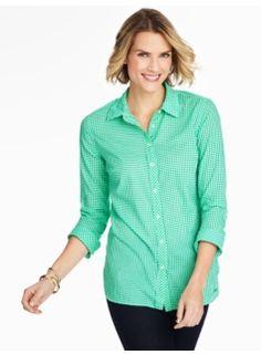 Print Cotton Shirt-Gingham