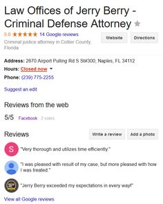 """Kim Roseman says """"I chose Jerry because I've lived in Naples since 1979 and heard he was the best.  My recommendation to anyone is that you are not just hiring an attorney.  His Florida Registered Paralegal Carol that has been with him close to 20 years was and is amazing. [Her] support and care and her expertise in the system was unbelievably reassuring. Jim his Legal Assistant was so kind and helpful as well and had a way of comforting me. Mike Hopkins his partner was also the kind of…"""