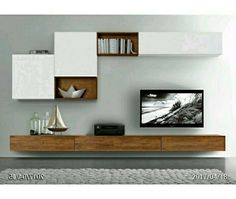 20 Outstanding Ideas For TV Shelves To Design More Attractive Living Room TV shelves are necessary items for every living room, and the. Living Room Wall Units, Living Room Tv Unit Designs, Living Room Cabinets, Interior Design Living Room, Living Room Decor, Tv Cabinets, Living Rooms, Kitchen Living, Tv Wand Design