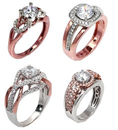 Rose and White Gold Engagement Rings - Engagement 101