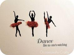 Love this ballet themed vinyl wall art
