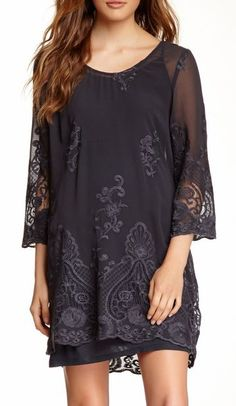 Monoreno Layered Lace Dress