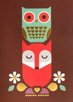 'Mr. Fox and Olive the Owl' by Kelly Hyatt Fox and his friend