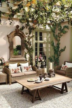 Breathtaking photos of patios. Covered patios, pergola, terraces & more. Get inspired by these stunning patio designs, just clicking here. Outdoor Rooms, Outdoor Living, Outdoor Decor, Party Outdoor, Outdoor Mirror, Outdoor Seating, Rustic Outdoor, Outdoor Projects, Outdoor Patio Decorating