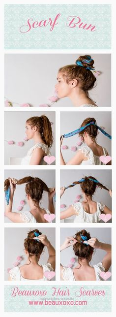 Nice Scarf bun. Really love this  The post  Scarf bun. Really love this…  appeared first on  Haircuts and Hairstyles .