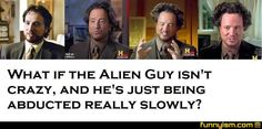 Ancient Aliens Crazy Hair Guy: one..hair..at..a..time.  Nick always watches this guy and I every time I say, why do you watch this crazy man...look at his hair! I might think twice now, lol!