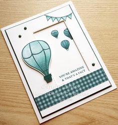 Heart's Delight Cards, Above the Clouds, Annual Catalog, Stampin' Up!, SRC - Above the Clouds Easy Fathers Day Craft, Small Balloons, Homemade Birthday Cards, Craftwork Cards, Stampin Up Catalog, Above The Clouds, Stampin Up Christmas, Heartfelt Creations, Masculine Cards