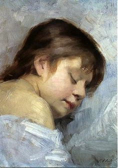 Sleeping Italian Girl by Maria Wiik on Curiator, the world's biggest collaborative art collection. Painting People, Figure Painting, Portraits, Portrait Art, Caricatures, Illustrations, Illustration Art, Female Painters, Prinz Eugen
