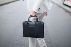 Leather Briefcase by Carl Friedrik