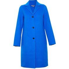 Vince Classic Duster Coat ($675) ❤ liked on Polyvore featuring outerwear, coats, blue, vince coat, travel coat, wool coat, duster coat and blue coat