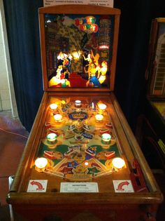 1947 Gottlieb Humpty Dumpty. The first pinball with flippers.